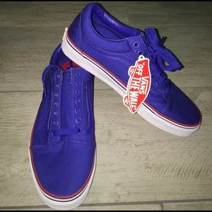 Vans Old Skool Sneakers Shoes - Blue/Wht/Red